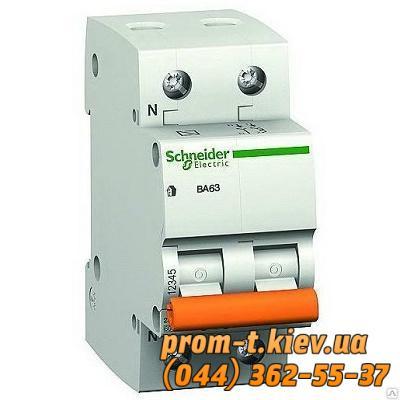 Фото Автоматические аппараты для защиты от перегрузок и короткого замыкания электрической цепи, Автоматический выключатель Moeller, Schneider Еlectric Автомат ВА63 1P+N 63A C