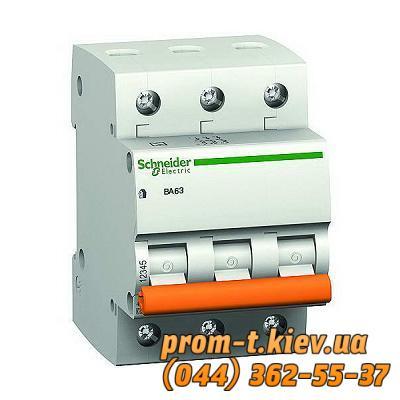 Фото Автоматические аппараты для защиты от перегрузок и короткого замыкания электрической цепи, Автоматический выключатель Moeller, Schneider Еlectric Автомат ВА63 3P 6A C