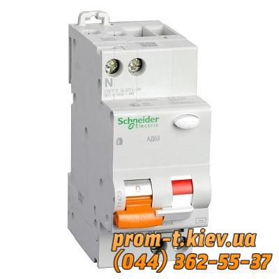 Фото Автоматические аппараты для защиты от перегрузок и короткого замыкания электрической цепи, Автоматический выключатель Moeller, Schneider Еlectric Диф-автомат АД63 1Р+N 16А С