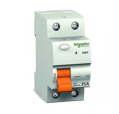 Диф-выключатель (реле) ВД63 1Р+N 25А С