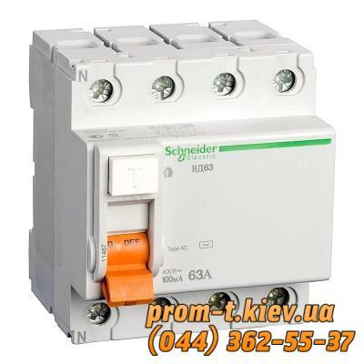 Фото Автоматические аппараты для защиты от перегрузок и короткого замыкания электрической цепи, Автоматический выключатель Moeller, Schneider Еlectric Диф-выключатель (реле) ВД63 3Р+N 63А С
