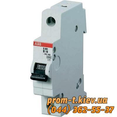 Фото Автоматические аппараты для защиты от перегрузок и короткого замыкания электрической цепи, Автоматический выключатель ABB Автомат ABB S201 C6 1p 6А