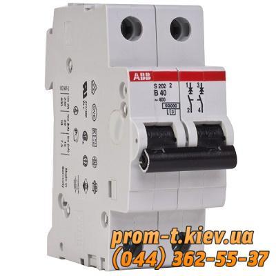 Фото Автоматические аппараты для защиты от перегрузок и короткого замыкания электрической цепи, Автоматический выключатель ABB Автомат ABB S202 C1 2p 1А