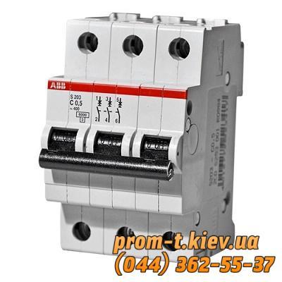 Фото Автоматические аппараты для защиты от перегрузок и короткого замыкания электрической цепи, Автоматический выключатель ABB Автомат ABB SH203 C50 3p 50А