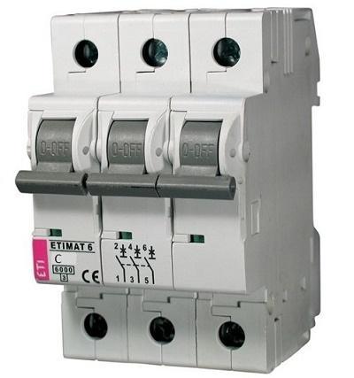 Автомат ETIMAT 6 3p С 6А (ETI)