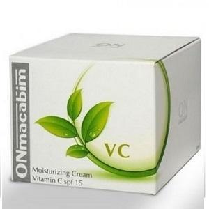 Фото Професcиональная косметика для домашнего ухода, ONmacabim Увлажняющий крем с витамином С SPF-15 ONmacabim VC Moisturizing cream Vit-C C для нормальной и сухой кожи (50 мл)