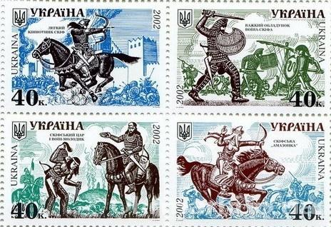 2002 № 425-428 сцепка почтовых марок История войска