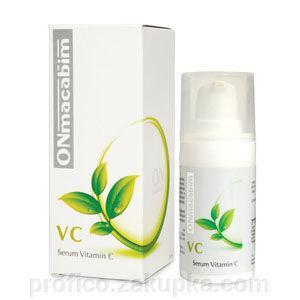 Фото Професcиональная косметика для домашнего ухода, ONmacabim Сыворотка с витамином С ONmacabim VC Serum Vitamin-C для нормальной и сухой кожи (30 мл)