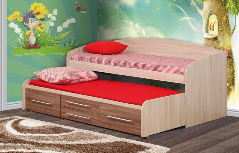 Фото Детская мебель, Детские кровати Кровать двухместная Адель-5 (Олмеко)