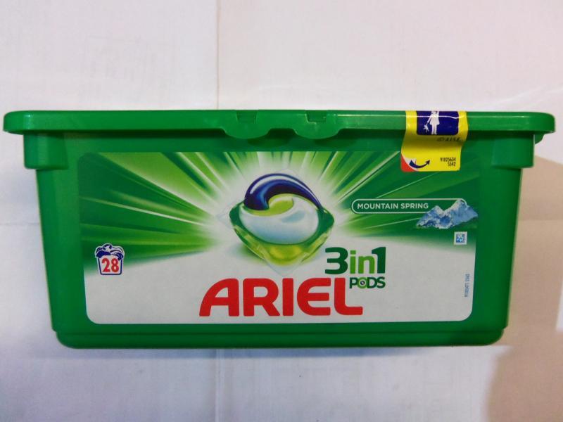 Фото Бытовая химия, Капсулы для стирки капсулы для стирки белого белья ARIEL, 28 штук в упаковке