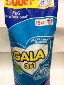 порошок для стирки универсальный GALA, мешок 15 кг.