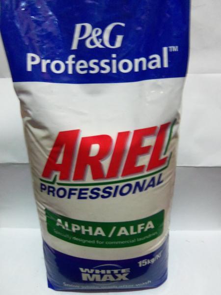 Фото Бытовая химия, Порошки стиральные порошок для стирки универсальный ARIEL, мешок 15 кг.