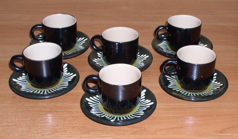 Набор кофейный керамический на 6 персон *6769