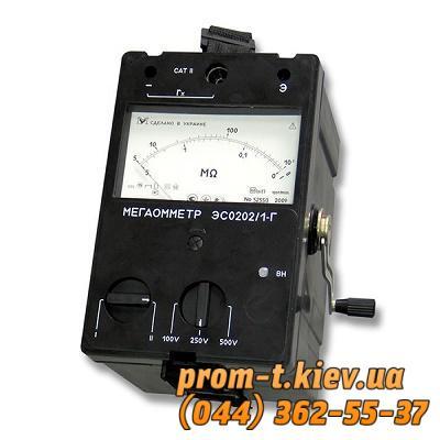 Фото Контрольно-измерительные приборы и автоматика, Клещи, тестеры, мультиметры, указатели напряжения, амперметры, вольтметры, регуляторы, сигнализаторы Мегаомметр ЭС0202/1Г (2Г)