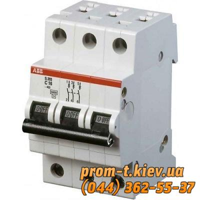 Фото Автоматические аппараты для защиты от перегрузок и короткого замыкания электрической цепи, Автоматический выключатель ABB Автомат ABB S203 C1