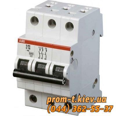 Фото Автоматические аппараты для защиты от перегрузок и короткого замыкания электрической цепи, Автоматический выключатель ABB Автомат ABB S203 C63