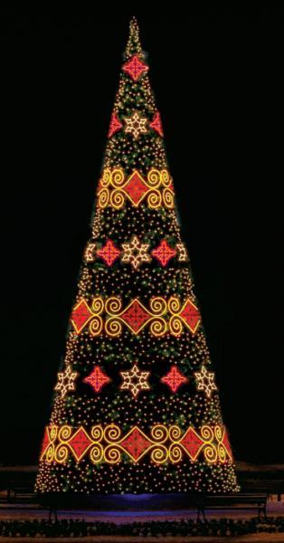Светодинамическая елка в Русском стиле 12м