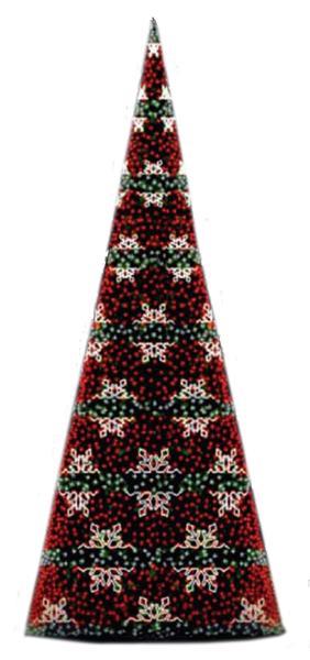 Светодинамическая елка Снежинка 12м