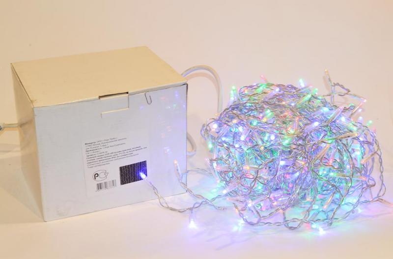 Световой занавес LED 480, 2*1,5м, на белом проводе, для наружного применения IP44, без контроллера