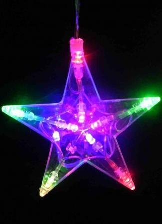 Гирлянда из 8 звезд цвет мультиколор