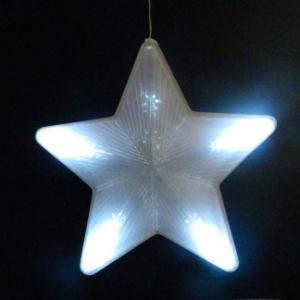 Фото Новогодние электрогирлянды, Светодинамические украшения Гирлянда из 5 звезд цвет белый