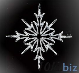 Верхушка-Снежинка, LED белый, 153см Обьемные акриловые светодиодные фигуры в Москве