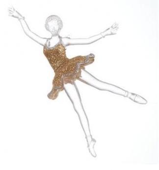"""Украшение из акрила """"Балерина"""" 15 см."""