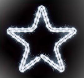 Мотив «Звезда» 43см, LED белый