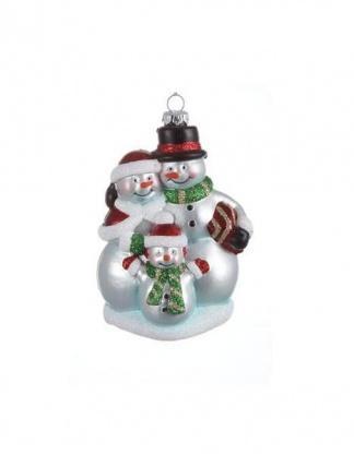 Новогоднее украшение Снеговики