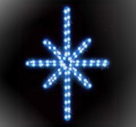 Мотив «Полярная звезда» 50x38см, LED голубой
