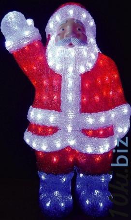 Акриловая фигура «Дед мороз» Обьемные акриловые светодиодные фигуры в Москве