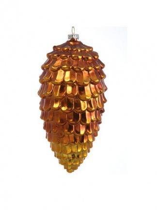 Новогоднее украшение Шишка еловая