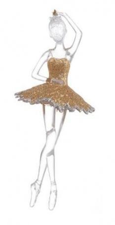 """Украшение из акрила """"Балерина"""" 18 см."""