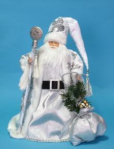 """Игрушка """"Дед Мороз"""" Серебро"""