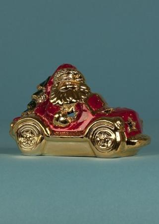 "Подсвечник ""Дед Мороз на автомобиле"" 10 см."
