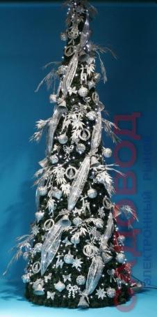 Комплект украшений  Конус украшенный 250 см Серебряная Сказка