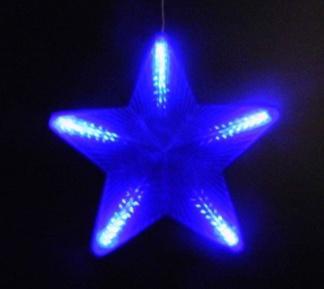 Гирлянда из 5 звезд цвет голубой