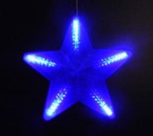 Фото Новогодние электрогирлянды, Светодинамические украшения Гирлянда из 5 звезд цвет голубой