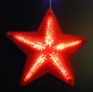 Гирлянда из 5 звезд цвет красный
