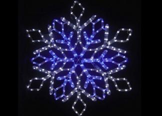 "Световая фигура LED ""Снежинка 80*69"""