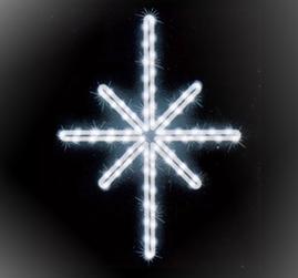 Мотив «Полярная звезда» 50х38см, LED белый
