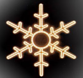 Мотив «Снежинка» 53см