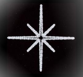 Украшение Астеро, LED белый, 1м