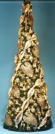 Комплект украшений Конус магия золото