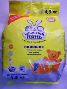 стиральный порошок для детского белья УШАСТЫЙ НЯНЬ 4,5 кг.