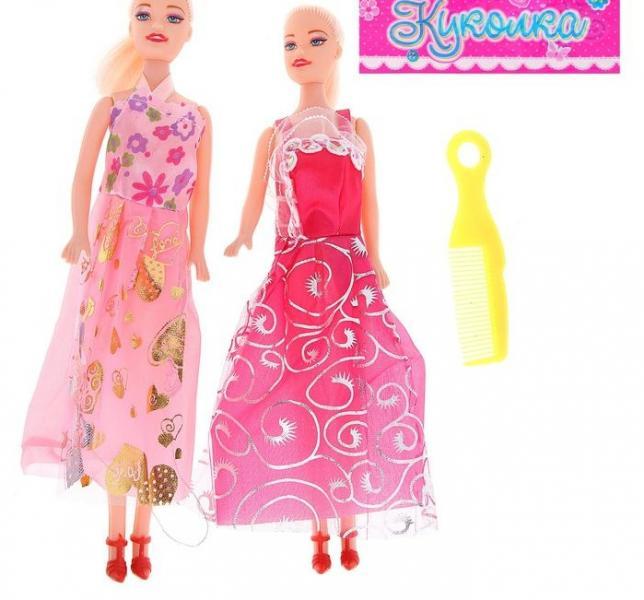 """Куклы """"Подружки"""", с расчёской, набор 2 шт, МИКС"""