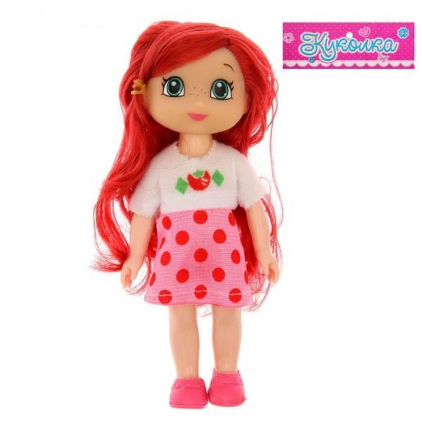 """Кукла """"Милашка"""", в платье, с цветными волосами, МИКС"""