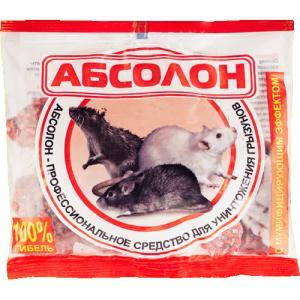 Абсолон парафинированные брикеты против грызунов 100 гр.