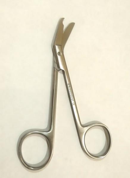 Ножницы для шовного материала хирургические, угловые