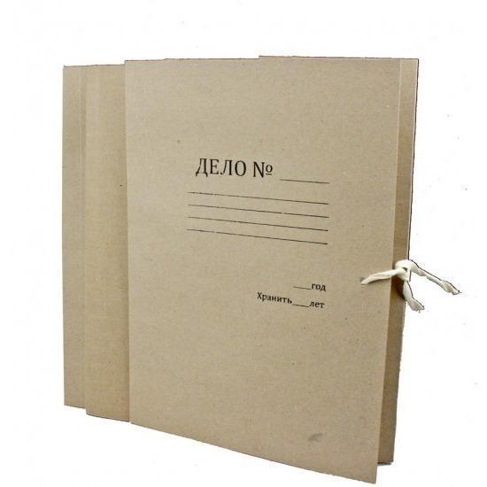 Фото Папки, файлы, планшеты, портфели, сумки (ЦЕНЫ БЕЗ НДС), Папки ДЕЛО на завязках, скоросшиватели картонные, обложки Папка для бумаг
